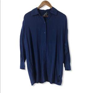 Vince Button Down silk tunic size medium